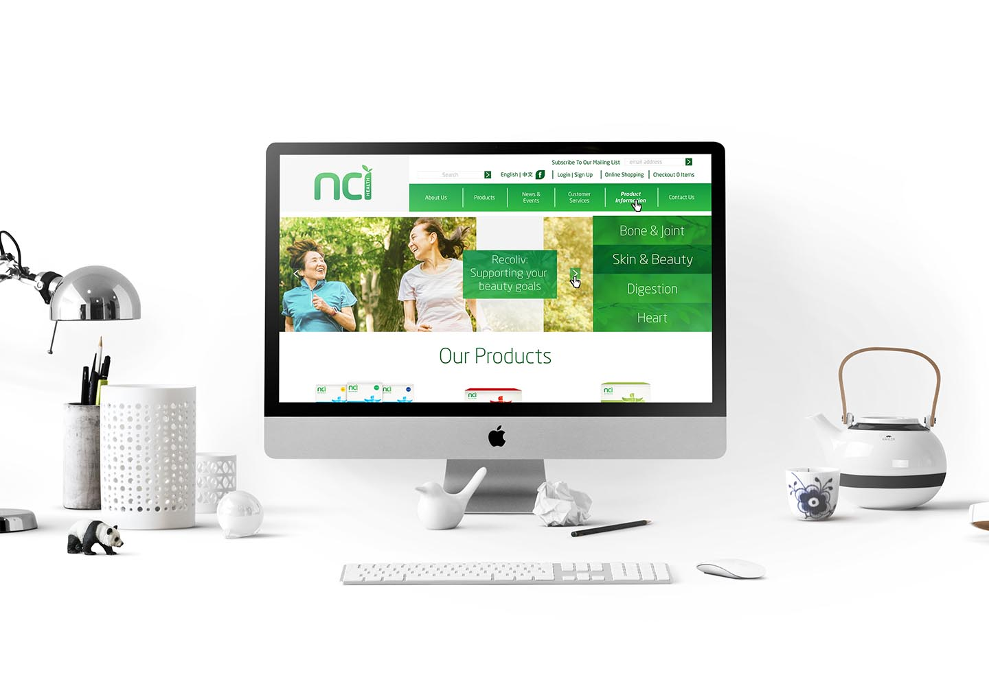 Brand Consultancy in FMCG industry. Website design for NCI.