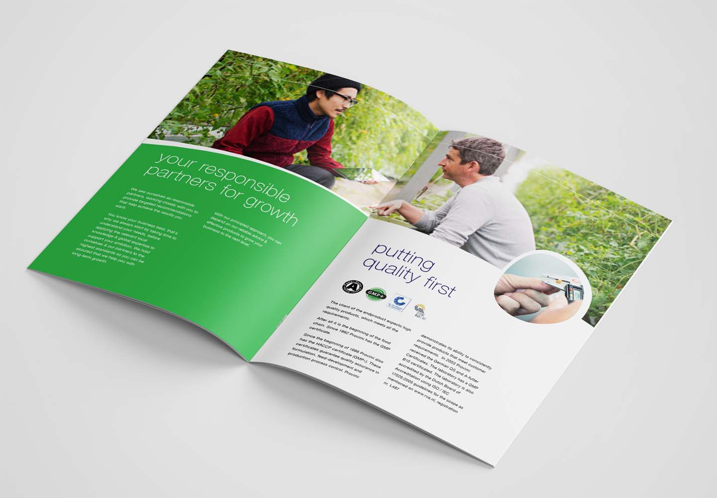 Brand Consultancy in Agriculture Industry. Brochure for Provimi.